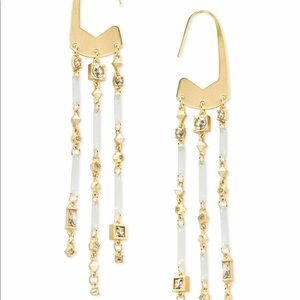 NWT $130 gold statement earrings